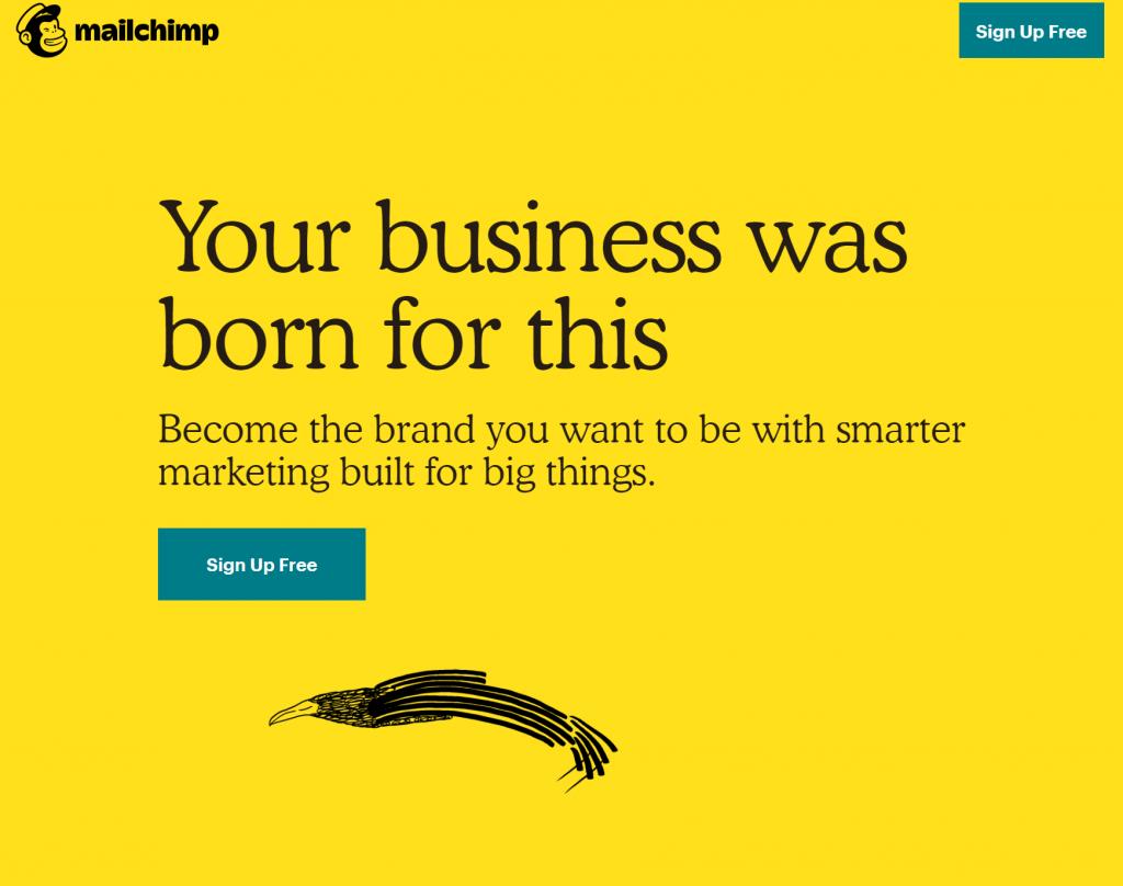 이메일 마케팅 전문회사 메일침프(Mailchimp) 메인 화면