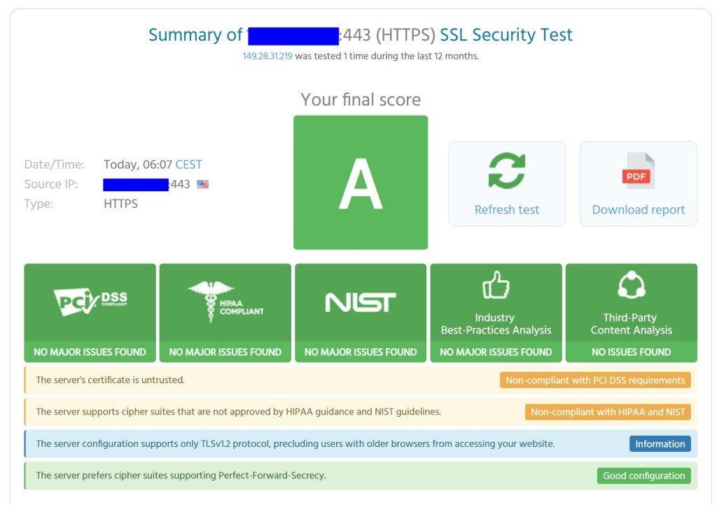 HPKP(HTTP Public Key Pinning) 적용 상태를 테스트한 결과